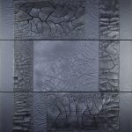 Schwarz_in_Schwarz I Acryl, Marmormehl, 120 x100